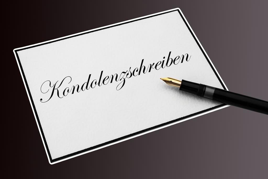 Briefumschlag Beschriften Bei Trauer : Kondolenzschreiben wie gestalten sie richtig