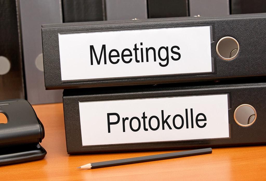 Protokolle professionell aufbauen | sekretaria.de