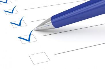 Checkliste, Papier, Kugelschreiber, Stift, Haken