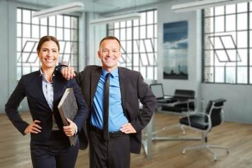 Büro, Geschäftspartner, Geschäftsleute, Mann, Frau