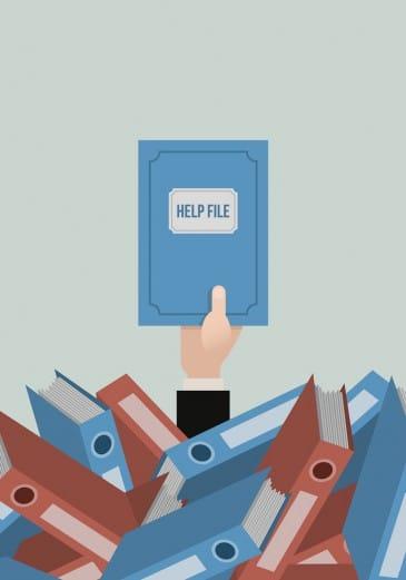 Hilfe, Technikprobleme, Ordner, Unterstützung, Buch