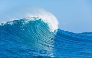 Welle, Meer, Ozean, blau
