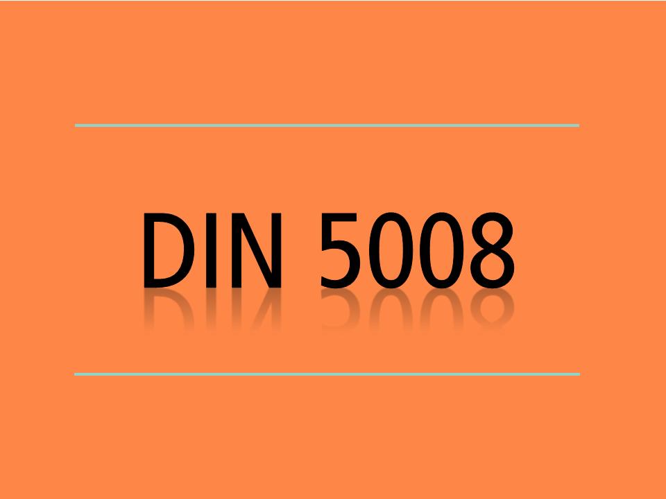 Din 5008 Anschrift Sekretariade