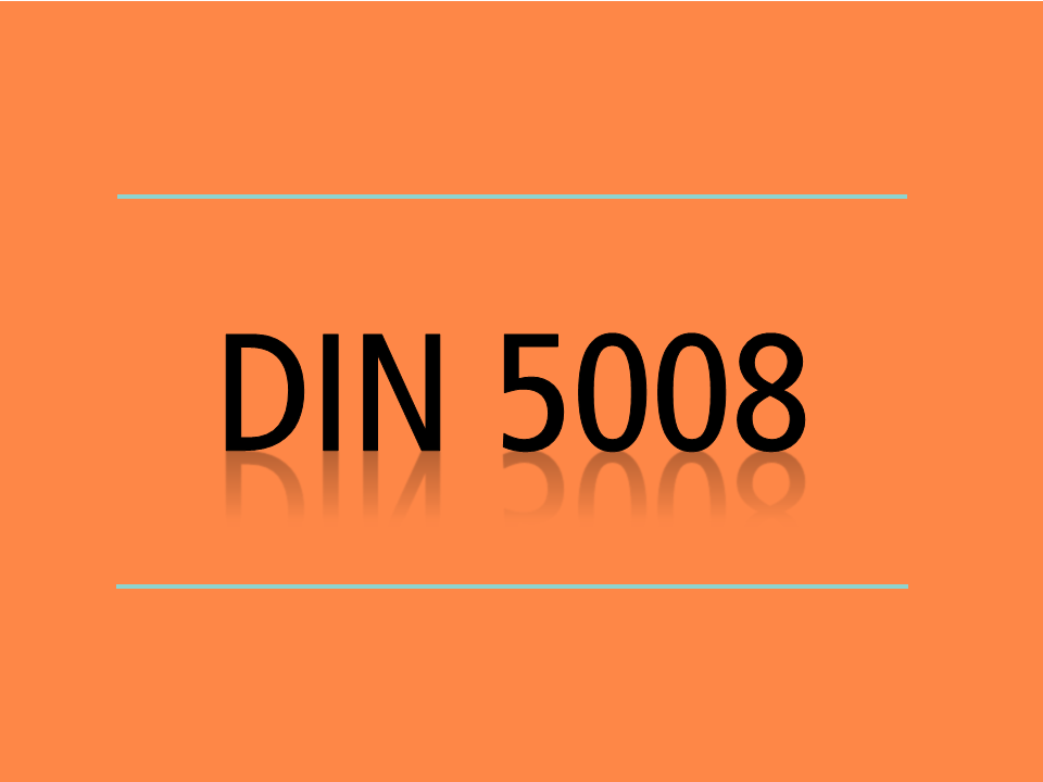 Din 5008 Anrede Sekretariade
