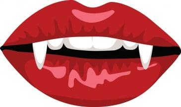 Vampir Mund Zähne