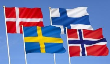 Flaggen von Scandinavien