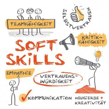 Soft Skills: Teamfähigkeit, Empathie und Kritikfähigkeit sind wichtig.