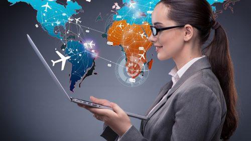 Geschäftsreise online planen und Zeit sparen