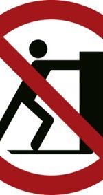 Schieben verboten