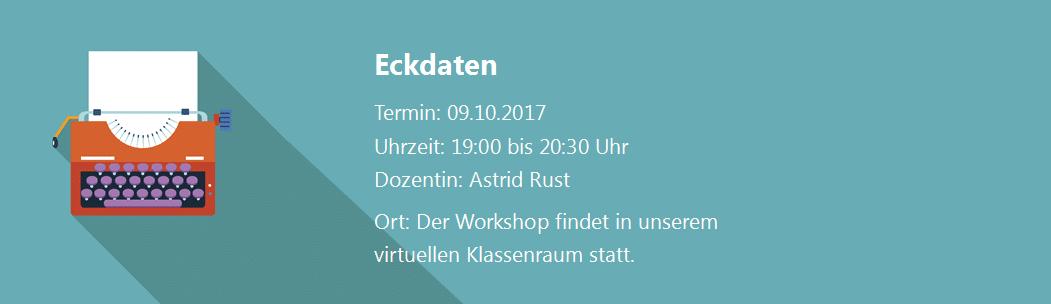 Eckdaten Webinar Rechtschreibung