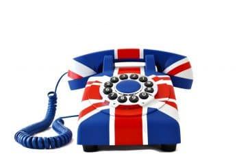 englisches Telefon