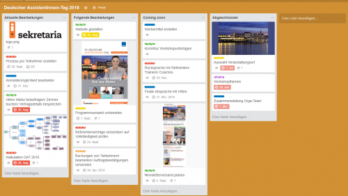 Projektmanagement-Tool Trello