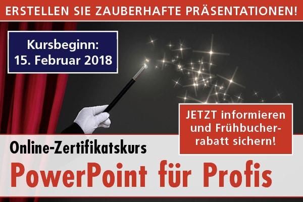 Online-Zertifikatskurs PowerPoint