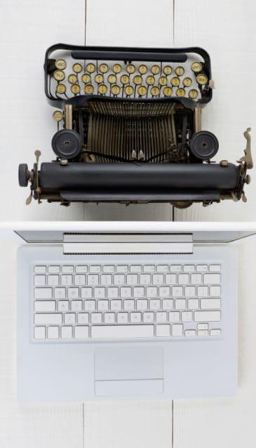 Schreibmaschine Laptop für CB