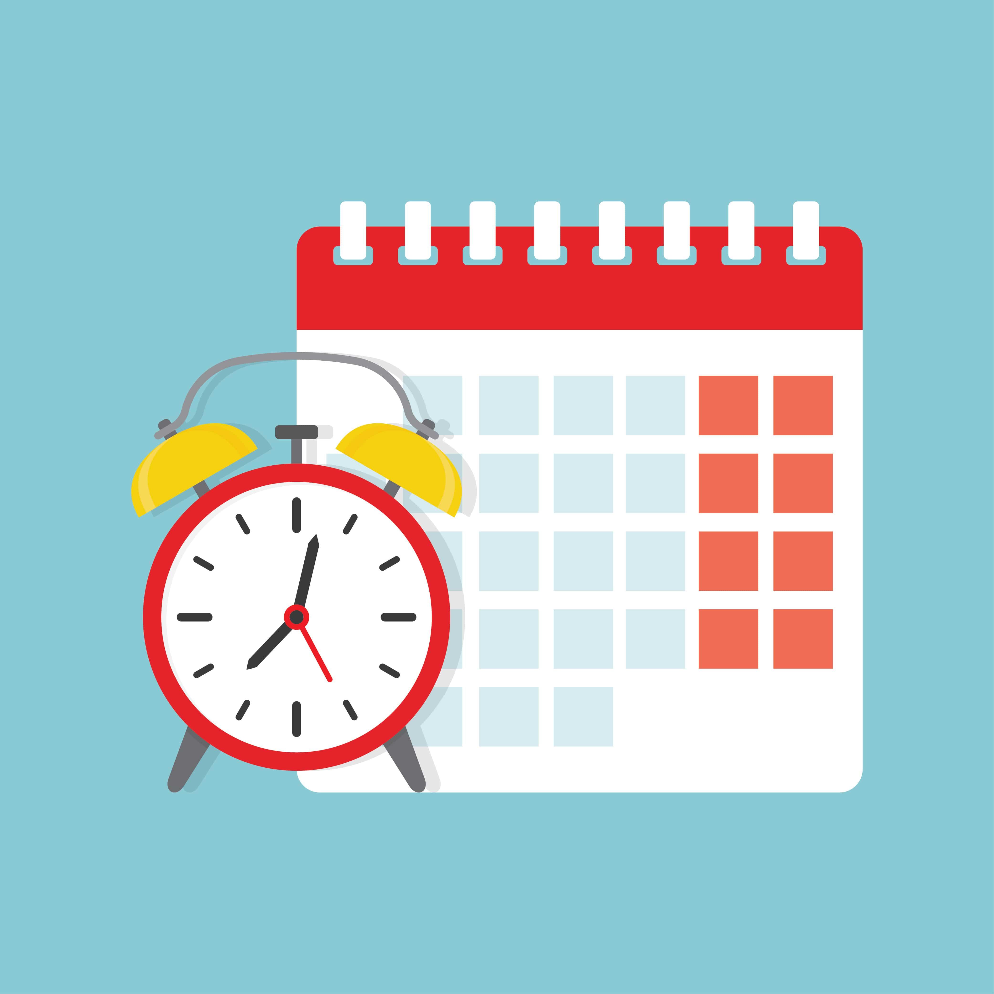 Kalender und Uhrzeit