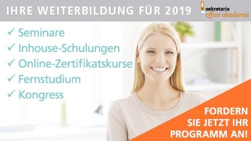 Weiterbildungsprogramm 2019 anfordern!