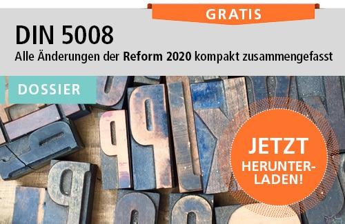 DIN 5008: Das ist neu!