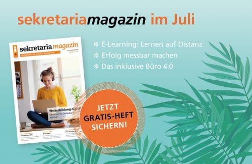 Die neue Ausgabe des sekretaria-Magazins ist da!